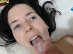 Another sexy cum in her mouth