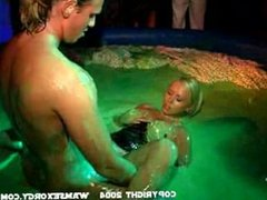 WarmSexOrgy girls getting fucked in green smile