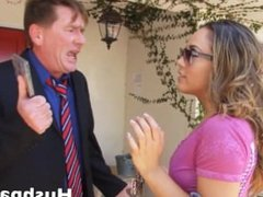 Kristina Rose fucks a black guy just to piss off her Daddy!