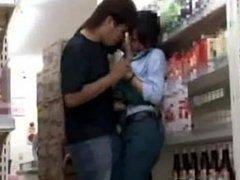 Reluctant Teenager public Orgasm in Shop