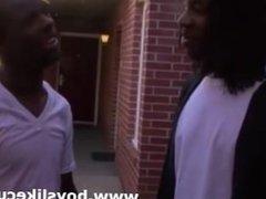 Black guys go to interracial gay bukkake party