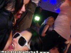 Party girls showing uninhibited behavior