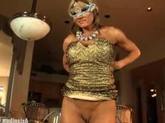 Aziani Iron Abby Marie female bodybuilder with large clit