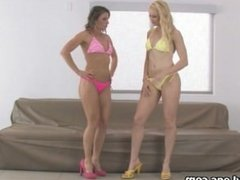 Sexy blonde babe gets horny getting her part6
