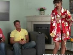 Reality Kings - Sushi gets shared. So does the delivery girl