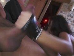 Big tits wife ballslicking