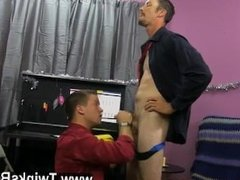 Gay fuck Danny Brooks is hopeless to receive his Christmas bonus, even if
