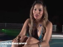 Colombian Diva blowjob and first interview