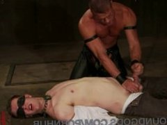 First-Timer Ben Craves Being Teased and Bound by Leather Dom