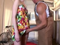 Sexy teen gets her ass pounded by a huge cock