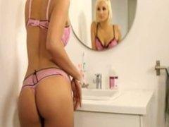 Hot blonde shagging