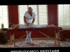 Johnny Sins gives Jenni Lee a Massage and a Hot Fuck