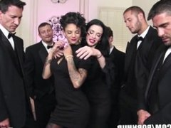 Brazzers - Veronica & Bonnie - The Secret of the Six Man Gangbang