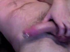 gay whie boy, wanking my pierced cock and fingering my hole...