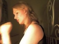 Slut makes Big white dick cum in this home video
