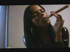 Black dom girl smoking