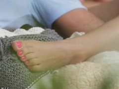 Alexis Brill's feet are perfect