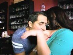 Plump Bartender Fucks Stud Waiter in Nightclub