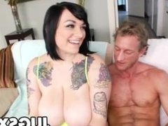 Tattooed babe Christine Rhydes gets fucked