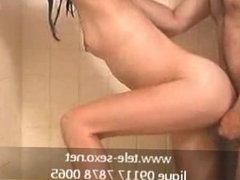 Shower fuck www.tele-sexo.net 09117 7878 0065
