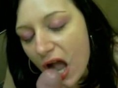 Anja sucking slut who loves cum in her mouth