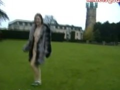 Flashing Beginner Minx without the stitch onto in public and exhibitionist