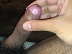 Uncut cock jerk off session