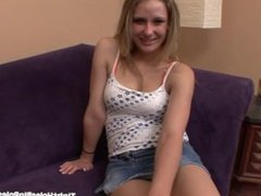 Cute Blond Teen Fucks A Big Dick!