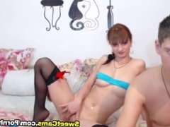 Horny Russian GF Rides her BF