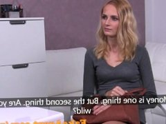 FakeAgent Hot blonde amateur likes it rough in casting