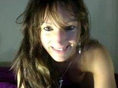 Hot brunette fucked on webcam