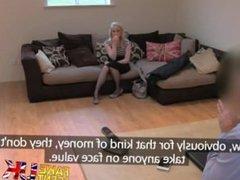 FakeAgentUK exclusive Satine Spark in original casting couch UK video