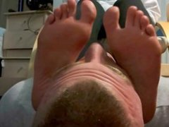 Foot smother from a cute coed