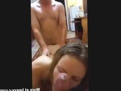 Two dudes spitroast a prostitute