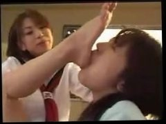 Asian Teatcher Becomes Student`s foot Slave