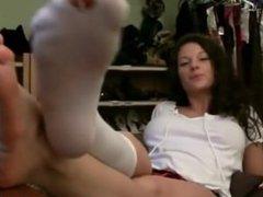 sweet girl and Holey Socks
