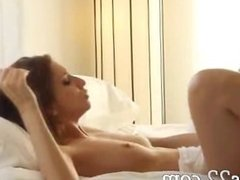 delicate brunette fucking on couch