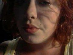 Sexy Redhead Smoking Fetish Closeup
