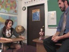 [420] Sexy School Girl Cameron Teases And Fucks