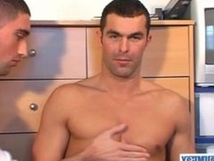 Full video: Nicolas a real str8 sport guy serviced by Brice in spite of him