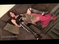 subbygirls - lesbian slave eat mistress pussy
