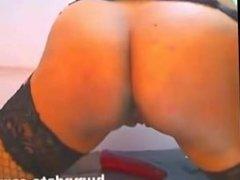 Hot latina riding dildo and toying her ass