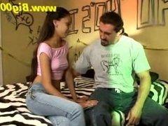 Skinny Teeny with Bodybuilder...!