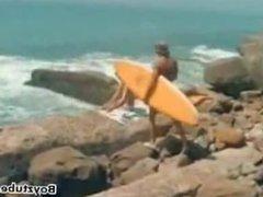 Vintage 70's Surf Boys having a threesome