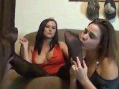 Lesbian foot fetish trio