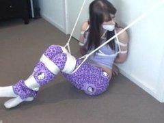 Tied wearing socks