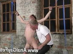 Hot gay scene Sean McKenzie is tied up and at the grace of sir Sebastian