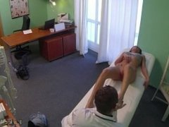 Hot brunette pussy fucked by doc in fake hospital
