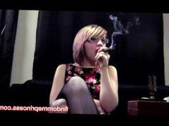 Enjoying a Cigar
