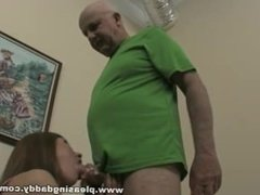 Sexy Redhead Evilyn Fierce Fuck Old Pornstar Dave Cummings
